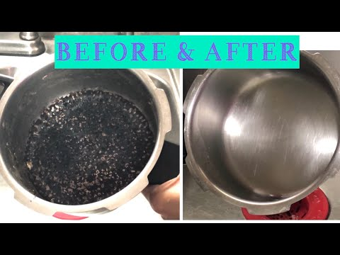 How to clean a burnt vessel, pot, or utensil / clean burnt Cooker in 2 Mins./ #allin1byjoy #boskip78