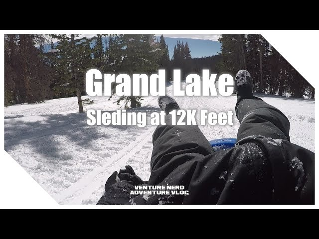 Grand Lake Sledding down Snowmobile Trails at 12,000 Feet