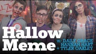 SPOOKTACULAR w/ Hannah Hart, Tyler Oakley, Bethinshow & DailyGrace LIVE - 10/24/12 (Full Ep)