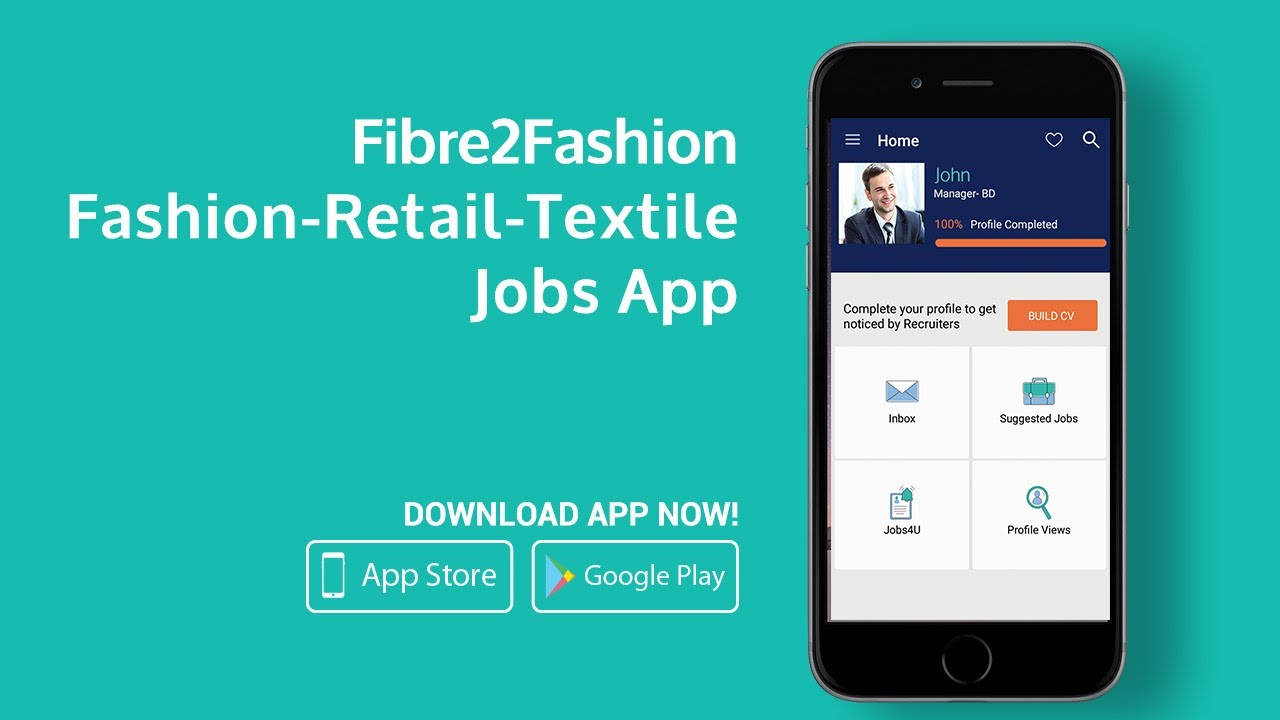 Fashion Retail Textile jobs App for Android & iOS