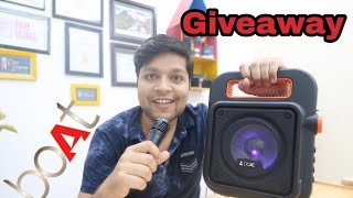 boAt PartyPal 20 Wireless Party Speaker Unboxing & Review In Hindi(Giveaway)