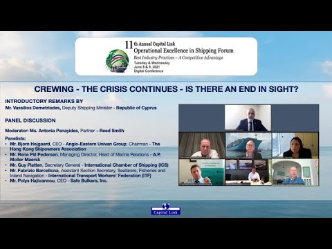 2021 11th Annual Operational Excellence in Shipping Forum - Crewing - The Crisis Continues