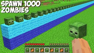 You CAN SPAWN 1000 ZOMḂIES AT ONCE in Minecraft ! HOW TO SUMMON ZOMBIES ARMY !