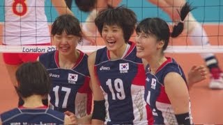 Women's Volleyball Pool B - CHN v KOR | London 2012 Olympics