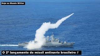 O 2º lançamento do míssil antinavio brasileiro