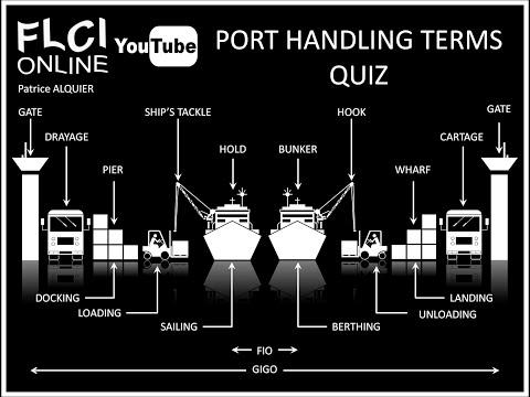 Port Handling Terms | Anglais Manutention Portuaire