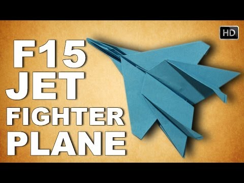 How To Make F-15 Paper Airplane | Origami F-15 Jet Fighter Plane ... | 360x480