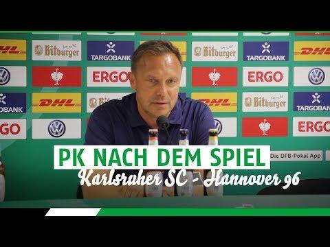 PK nach dem Spiel |  Karlsruher SC - Hannover 96