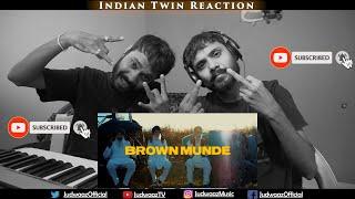 Indian Twin Reaction   BROWN MUNDE - AP DHILLON   GURINDER GILL   SHINDA KAHLON   GMINXR