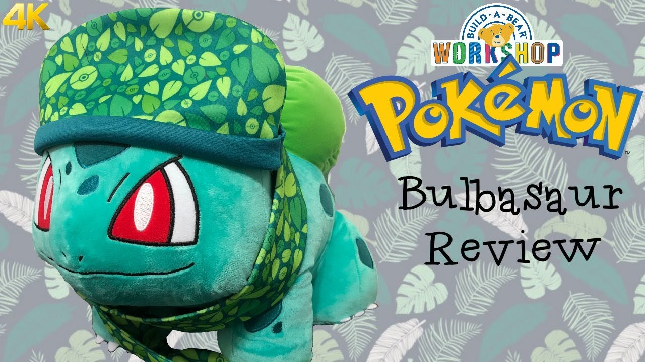 abc33c0f3d8 Build A Bear Pokemon Bulbasaur Plush Toy Review - Limited Edition Web  Exclusive - 4K