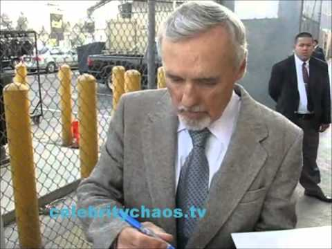 Exclusive video Dennis Hopper outside Jimmy kimmel live