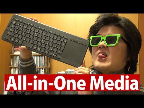 大型タッチパッド搭載All-in-One Media Keyboard N9Z-00023 マイクロソフト純正ワイヤレスキーボードSurface Pro 3 ユーザーに