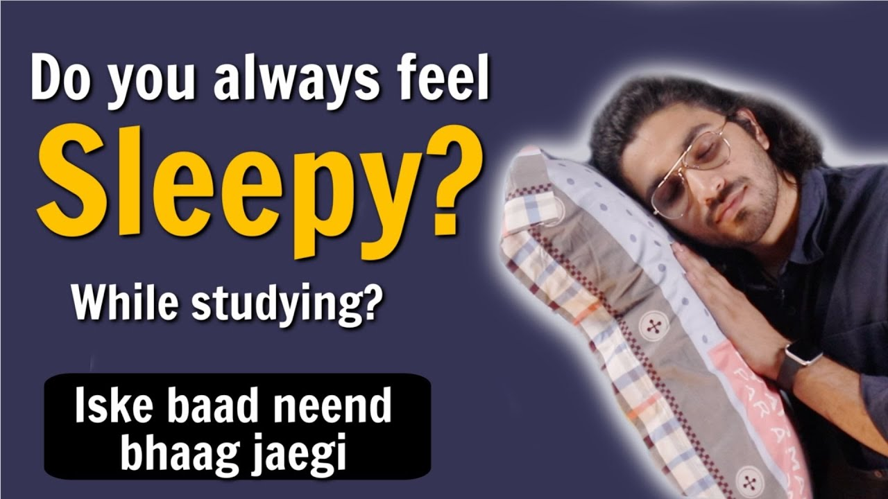 How to overcome sleep while studying? | Study tips for students
