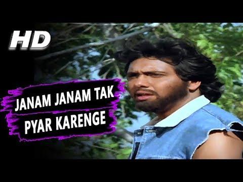 Janam Janam Tak Pyar Karenge | Mohammed Aziz, Kavita Krishnamurthy | Jung Baaz HD Songs | Govinda
