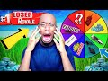 IF I LOSE THIS FORTNITE GAME, I GO BALD?! Fortnite SPIN THE WHEEL EDITION