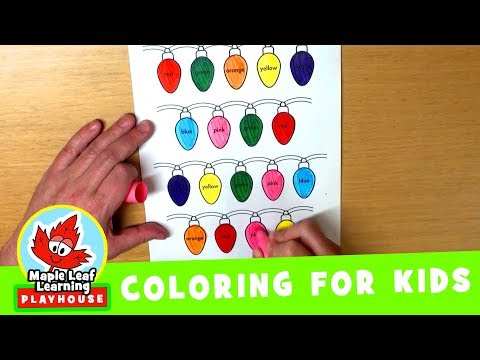 Christmas Lights Coloring Page for Kids | Maple Leaf Learning Playhouse