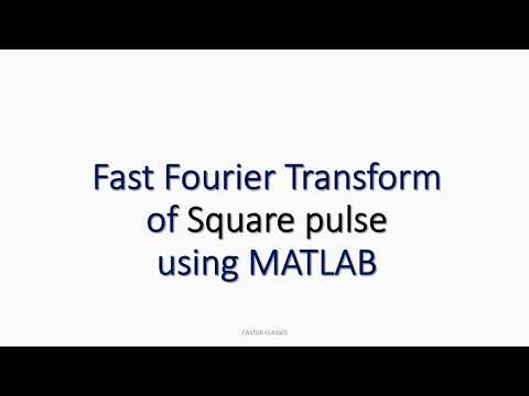 MATLAB Program for Fast Fourier Transform of Square pulse m file