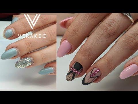 Геометрия на миндальных ногтях