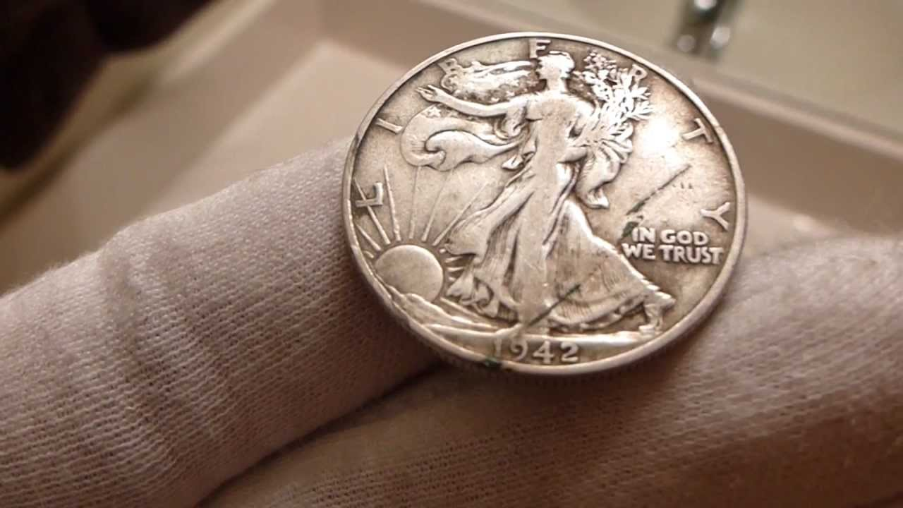 1942 walking liberty half dollar coin review youtube