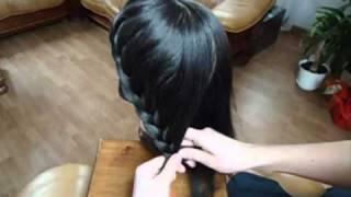 fryzura pleciona z długich włosów