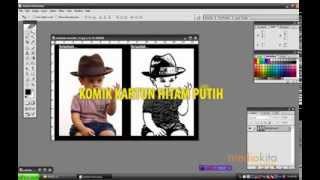 Tutorial Hacer una Historieta de dibujos animados de Blanco y Negro En un Objeto En Photoshop CS3