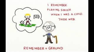 Verb + Gerund, Infinitive  Stop, Remember, Forget