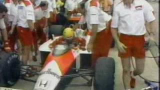 Senna charges through the field at Brazil 1988
