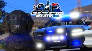 SA'F #171 - Fire Dog Gets In BIG Trouble! | GTA V RP
