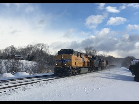 INSANE Railfanning in the Snow in Upstate New York!! Day 2
