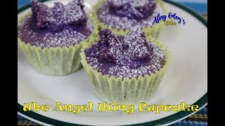 Aling Oday's Ube Angel Wing Cupcake