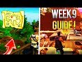 Fortnite WEEK 9 CHALLENGES GUIDE! - Treasure Map Location, Moisty Mire Chests (Battle Royale Guide)