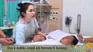 Ussy Sulistiawaty & Andhika Pratama Jenguk Ade Namnung