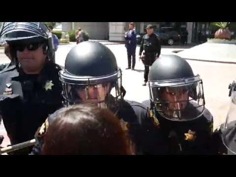 Donald Trump Protest at GOP Convention in The Bay Area