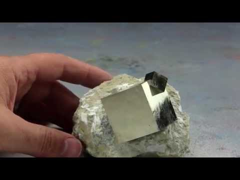Rare Collectible Pyrite Crystals on Matrix from Navajun, Spain #150005