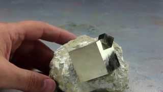Rare Collectible Pyrite Crystals on Matrix from Navajun, Spain #150005