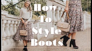 HOW TO STYLE PRACTICAL AUTUMN BOOTS // Fashion Mumblr AD