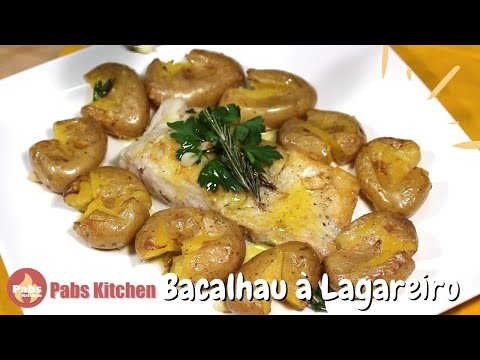 Cod Fish In Olive Oil 🐟 (Bacalhau à Lagareiro) - Pabs Kitchen