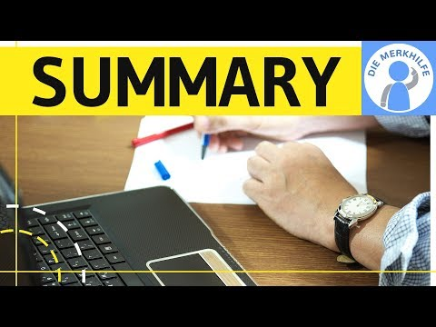 How To Write A Summary Zusammenfassung In Englisch