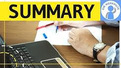 How to write a summary - Zusammenfassung in Englisch schreiben - Aufbau, Inhalt, Struktur erklärt