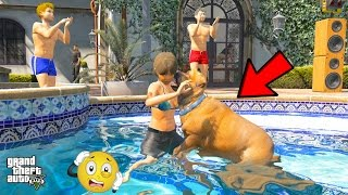 OMG!!CRAZY DOG ATTACKS JESSICA AT AMANDA'S BABY SHOWER PARTY!! (GTA 5 Mods)
