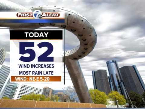 Rain and wind move into metro Detroit