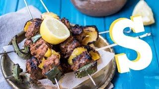 Greek Lamb Kebabs & Babaganoush Recipe - SORTED