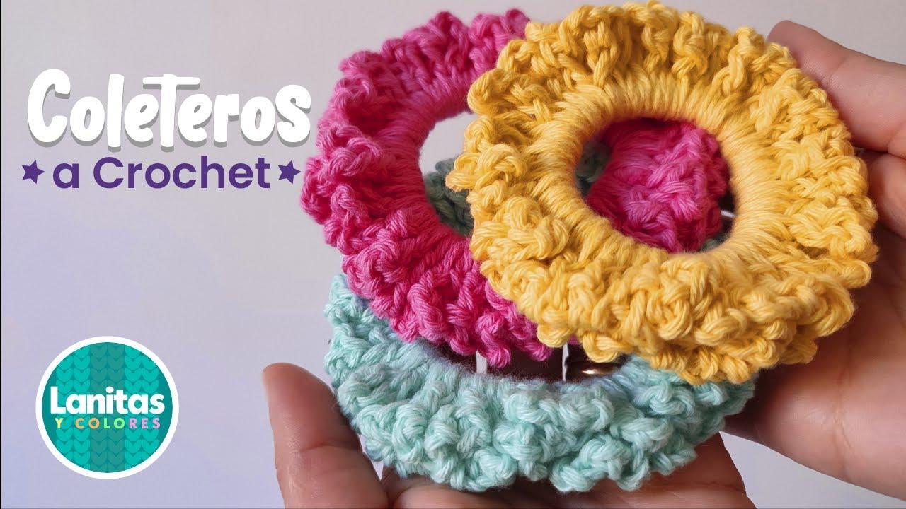 Cómo tejer coletero a crochet en minutos | Liga para el cabello SCRUNCHIE step by step