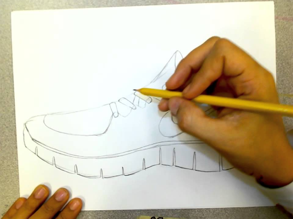 Nike Runfree Shoe Drawing Doovi