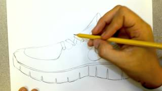 nike runfree shoe drawing