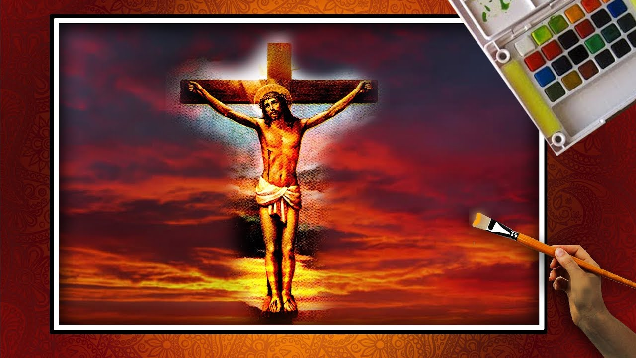 how to draw draw jesus on the cross lord jesus cross. Black Bedroom Furniture Sets. Home Design Ideas