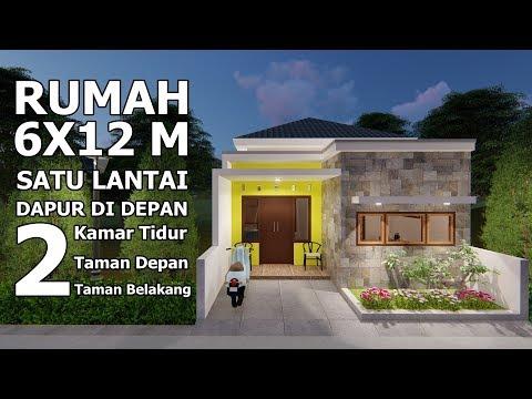 Desain Rumah Minimalis Dapur Di Depan  desain rumah 6x12 m satu lantai dengan dapur didepan youtube