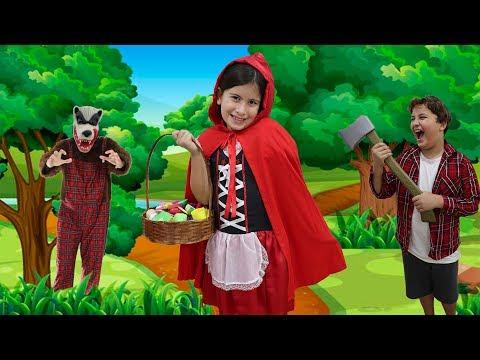 CHAPEUZINHO VERMELHO E O LOBO MAU !!! COM MARIA CLARA E JP | little red riding hood story