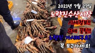 2021년 7월 27일 노량진수산시장 시세정보!! 구매꿀팁!!