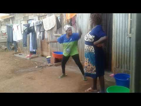 Clothesline fight in slums